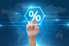 Hand het drukken percentagepictogram Royalty-vrije Stock Afbeelding