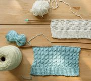 Hand - het gemaakte naaien stock afbeeldingen