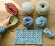Hand - het gemaakte naaien stock afbeelding