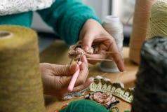Hand - het gemaakte naaien royalty-vrije stock afbeeldingen