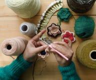 Hand - het gemaakte naaien royalty-vrije stock afbeelding