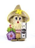 Hand - het gemaakte stuk speelgoed is een simbol van wellness en huisbescherming Stock Foto