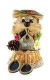 Hand - het gemaakte stuk speelgoed is een simbol van wellness en huisbescherming Royalty-vrije Stock Foto's
