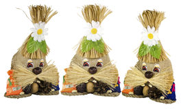Hand - het gemaakte stuk speelgoed is een simbol van wellness en huisbescherming Stock Afbeeldingen