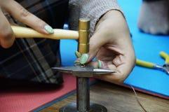 Hand - het gemaakte werk met draad in draad Royalty-vrije Stock Foto's