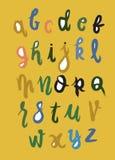 Hand het geschreven de borstel van woord 'Brush Letter'painted Typo van letters voorzien, Royalty-vrije Stock Foto's