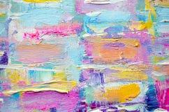 Hand het getrokken acryl schilderen Abstracte kunstachtergrond Het acryl schilderen op canvas Kleurentextuur Fragment van kunstwe vector illustratie
