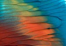 Hand het getrokken gouache schilderen Abstracte kunstachtergrond Kleurentextuur stock afbeelding