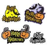 Hand het getrokken Halloween-van letters voorzien Stock Foto