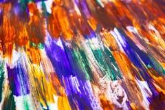 Hand het getrokken waterverf schilderen Abstracte kunstachtergrond Kleurentextuur Fragment van een kunstwerk Vlekverf Borstelsver royalty-vrije illustratie