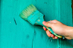 Hand het schilderen Stock Afbeeldingen