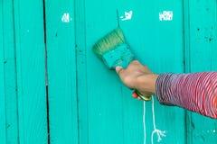 Hand het schilderen Stock Foto's