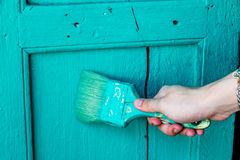 Hand het schilderen Stock Afbeelding