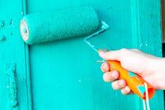 Hand het schilderen Stock Foto
