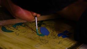 Hand het Schilderen Kunstwerk stock footage