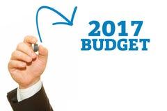Hand het schrijven Begroting 2017 Royalty-vrije Stock Fotografie