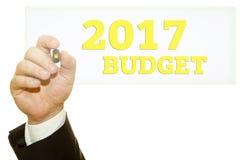 Hand het schrijven Begroting 2017 Royalty-vrije Stock Afbeeldingen