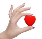 In hand het symbool van het hart royalty-vrije stock foto's