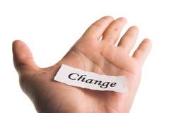 In hand het woord van de verandering Royalty-vrije Stock Fotografie