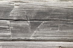 Hand hewn cabin logs Stock Photos