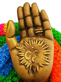 Hand of Hindu God. Ganesh stock images