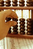 Hand hold abacus Royalty Free Stock Images