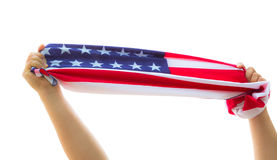 Hand hold American Royalty Free Stock Images