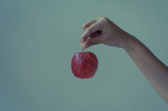 Hand hold apple Royalty Free Stock Photography