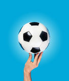 Hand hold ball Royalty Free Stock Photo