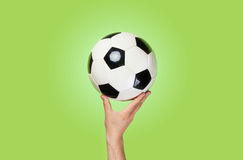 Hand hold ball Royalty Free Stock Photos