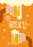 Hand hold the beer Royalty Free Stock Photo