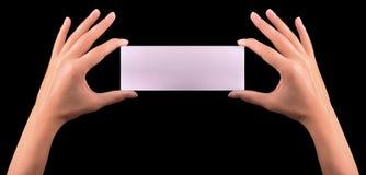 Hand hold blank business card Stock Photos