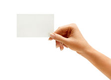 Hand hold blank business card Royalty Free Stock Photography
