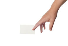 Hand hold blank business card Royalty Free Stock Photos