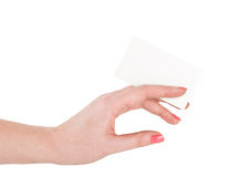 Hand hold blank business card Royalty Free Stock Images