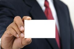 Hand hold blank card Royalty Free Stock Photos