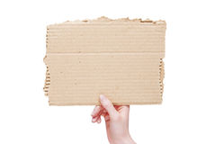 Hand hold blank  card Stock Photos