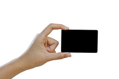 Hand hold blank  credit card Royalty Free Stock Images