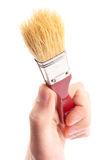Hand hold brush. Painter Stock Image