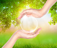 Hand hold Bubbles Royalty Free Stock Image