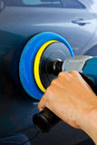 Hand hold car polisher Royalty Free Stock Photo