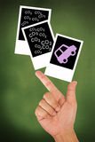 Hand hold car release carbon dioxide emission Stock Photography