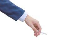 Hand hold cigarette Stock Photo