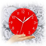 Hand hold clock Royalty Free Stock Image
