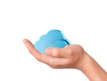Hand hold cloud computing symbol Stock Photography