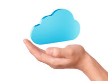 Hand hold cloud computing symbol Royalty Free Stock Photo