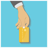 Hand hold credit card Royalty Free Stock Photography