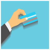 Hand hold credit card Stock Image