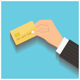 Hand hold credit card Royalty Free Stock Images