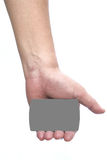 Hand hold the credit card Royalty Free Stock Image